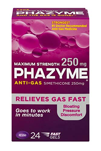 Phazyme Maximum-Strength Gas and Bloating Relief |  250 mg | 24 FAST GELS