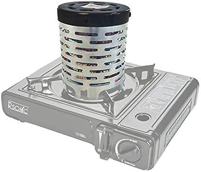 Accesorio calefactor para todo tipo de hornillos de gas portátiles.