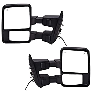 41sjumMVLAL._SY300_ amazon com dedc pair 08 15 ford super duty f250 f350 f450 power Ford F-150 Towing Mirrors at webbmarketing.co