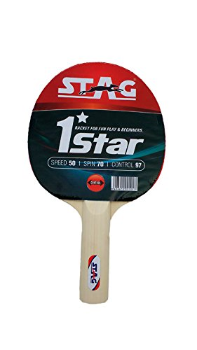 33ae7311aa Image Unavailable. Image not available for. Colour: Stag 1 Star Table Tennis  Racquet