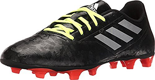 adidas Men's Conquisto II FG Black/Silver Metallic/Solar Red Athletic ()