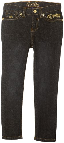 Dereon Little Girls' Robin Black Wash Jean