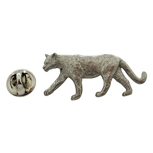 Walking Cougar or Mountain Lion Pin ~ Antiqued Pewter ~ Lapel Pin ~ Sarah's Treats & Treasures