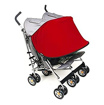 Manito Sun Shade for Twin Stroller (Red) TSSS-35000