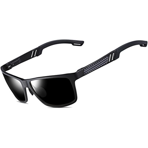 ATTCL Men's Hot Retro Al-Mg Metal Frame Driving Polarized Wayfarer Sunglasses For Men Women 16560blackgray
