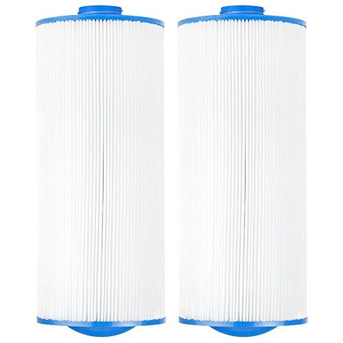 Jacuzzi Hot Tub Filters (Clear Choice CCP303 Pool Spa Replacement Cartridge Filter for Jacuzzi Premium J-300 and J400 Filter Media, 6-3/4 Dia x 15-1/2 Long, [2-Pack])