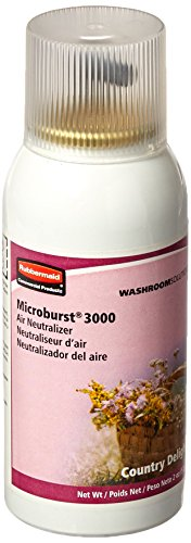 Rubbermaid Commercial Refill for Microburst 3000 Automatic Odor Control System, Country Delight, FG4012591