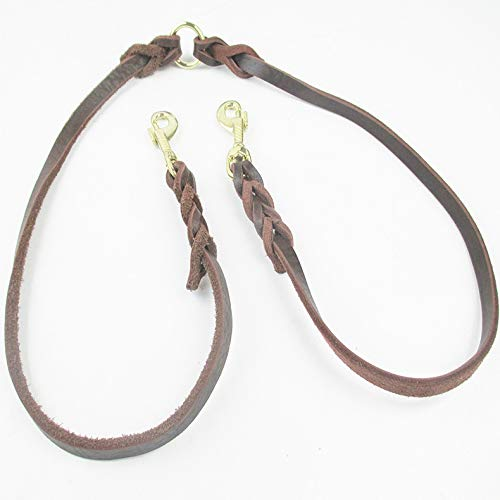 Pet Online Cowhide Traction Rope DoubleHeaded pet Dog Leash