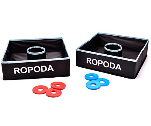ROPODA Washer Toss Game Set-Outdoor Family Game-Perfect for Lawn,Backyard,Beach,Parties, Camping, Tailgating and More. ()