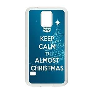 Samsung Galaxy S5 Cell Phone Case White Yoda Keep Calm Hard Custom Phone Case Cover CZOIEQWMXN14148