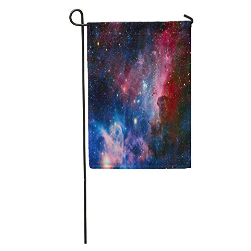 Semtomn Garden Flag The Carina Nebula in Infrared Light This Furnished Home Yard House Decor Barnner Outdoor Stand 28x40 Inches Flag ()