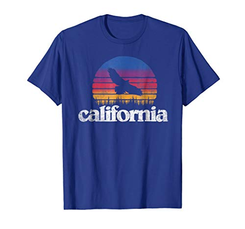 California Retro Outdoor Soaring Bird & Trees Nature T-Shirt -