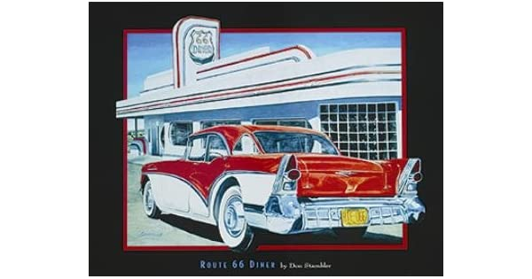 Amazon.com: Ruta 66 Diner – cartel por Don stambler (14 x 11 ...