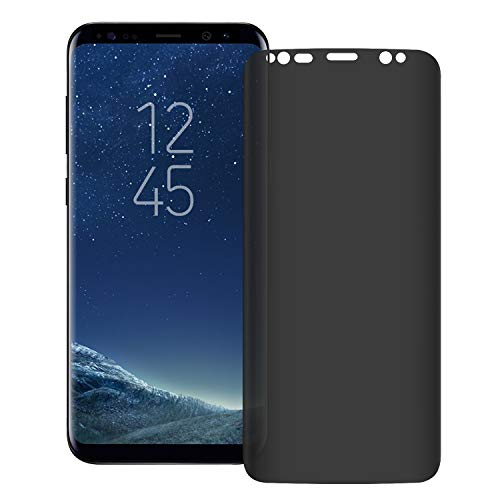 YCFlying 3D Galaxy S8 Plus Screen Protector Privacy[Upgrade Version] Anti-spy Tempered Glass Screen Film 9H Hardness Anti-Scratch Anti-Peep Shield for Samsung Galaxy S8 Plus/S8+,Easy Install-Transpare