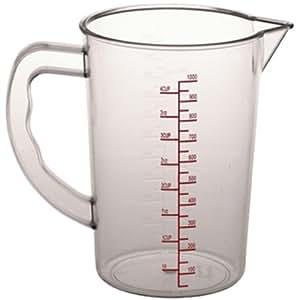 Polycarbonate Measuring Jug 1 litre capacity. Polycarbonate.