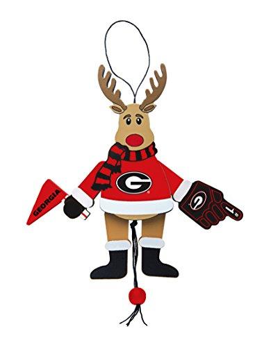 - NCAA Georgia Bulldogs Wooden Cheer Ornament
