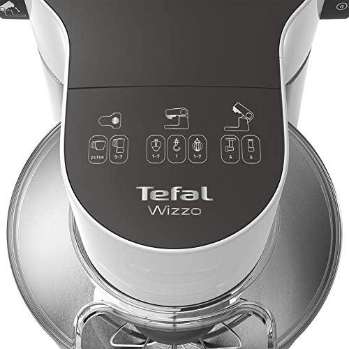 Tefal QB3101 - Robot de cocina (4 L, Acero inoxidable, Blanco, Tocar, Amasar, Mezcla, 2,7 L, Metal): Amazon.es: Hogar
