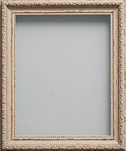 Shabby Chic Cream Photo Picture Frame with Black Mount Choose size