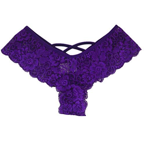 TWGONE Sexy Women Lace Flowers Low Waist Underwear Panties G-String Erotic Lingerie ()