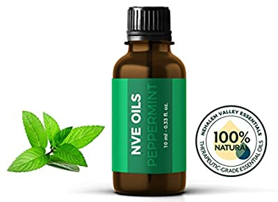Pure Peppermint Essential Oil By NVE Oils-Guaranteed 100% Pure & Natural For Diffuser, Aromatherapy, Headache, Pain, Meditation, Stress, Anxiety, Sleep, Cosmetics, Soaps, Candles, Skin Care, etc.