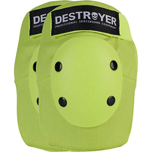 Destroyer Pro Elbow Pad - Destroyer PRO Lime Elbow Pads - X-Large