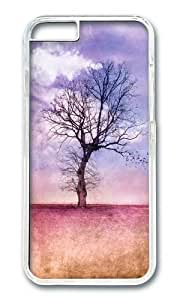 Apple Iphone 6 Case,WENJORS Adorable ATMOSPHERIC TREE Early Spring Hard Case Protective Shell Cell Phone Cover For Apple Iphone 6 (4.7 Inch) - PC Transparent