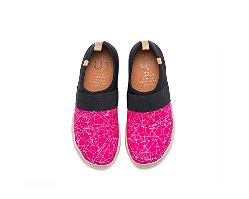 UIN Shoe Pink Painted Canvas Women's Slip On Pyramid 7qYw7x1r