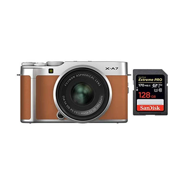 RetinaPix Fujifilm X-A7 24.2 MP Mirrorless Camera with SanDisk 128GB Extreme Pro SD Card