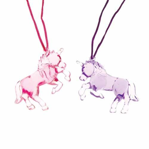 Colors Will Vary U.S Toy 1 each Unicorn Necklace Assorted Colors