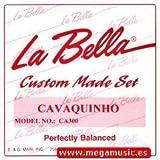 CUERDAS CAVAQUINHO - La Bella (CA300P) Juego Completo (4 Cuerdas) 011P/010P/009P/009P (Acero Liso)Lazo