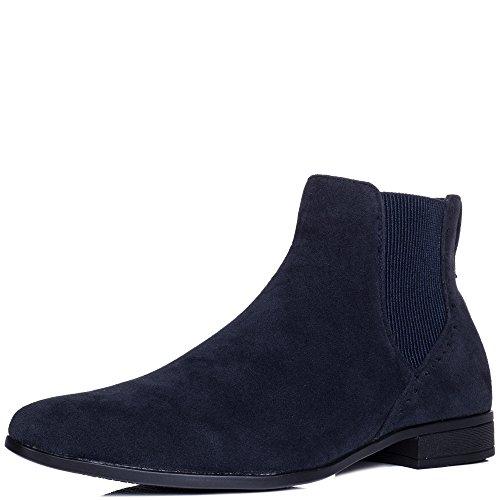 Bleu Simili Bottines Francis Chelsea Hommes Boots Daim Spylovebuy xgHEzqnTwT