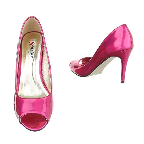 Ital-Design - Zapatos con tacón Mujer, color rosa, talla 38