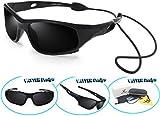 Kyпить VATTER TR90 Unbreakable Polarized Sport Sunglasses For Kids Boys Girls Youth 816blackblack на Amazon.com