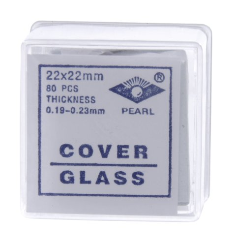 American Educational Glass Microscope Cover Slip, 22mm Length, 22mm Width, #2 Thickness (Bundle of 800)