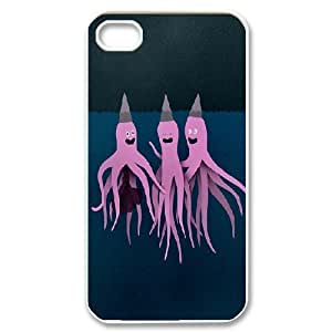 octopus ink Cases For iPhone 4/4s White