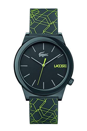 Lacoste Men's Motion Quartz Watch with Silicone Strap, Black, 20.15 (Model: 2010958)