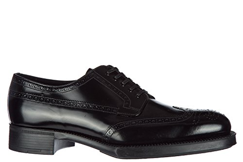 lace Leather up Shoes Laced Prada Formal Derby Women's Black Classic aqCtTxx1w