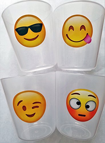Cups for Kids Toddlers Premium BPA Free Unbreakable Drinking Cups 8 oz Emoji Design