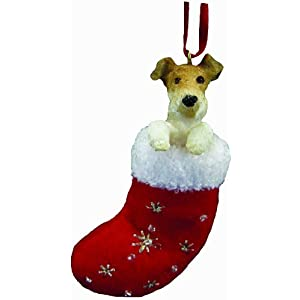 Wire Fox Terrier Stocking Ornament 48