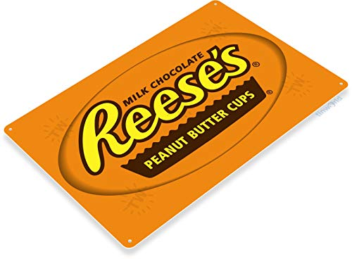 """(Tinworld TIN Sign """"Reese's Cups"""" Metal Decor Wall Art Kitchen Candy Store A591)"""