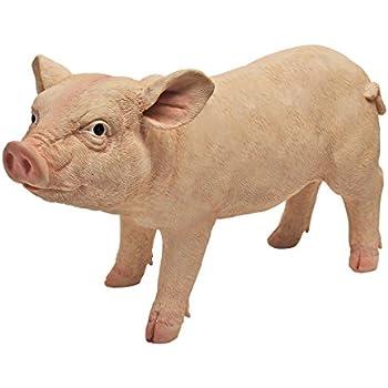 Design Toscano Piggy Garden Statue Porker, Multicolored