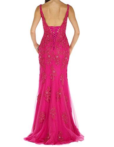 Abendkleider Brautmutterkleider Marie Etuikleider Lang La Figurbetont Spitze Pink Festlich Navy Blau Braut 7pwa7x4q0