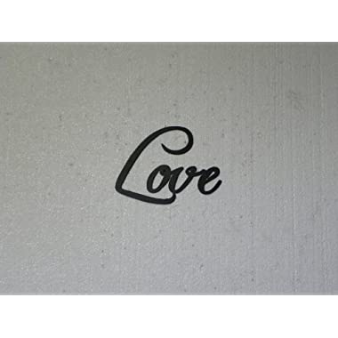 Love Word Metal Wall Art Home Decor