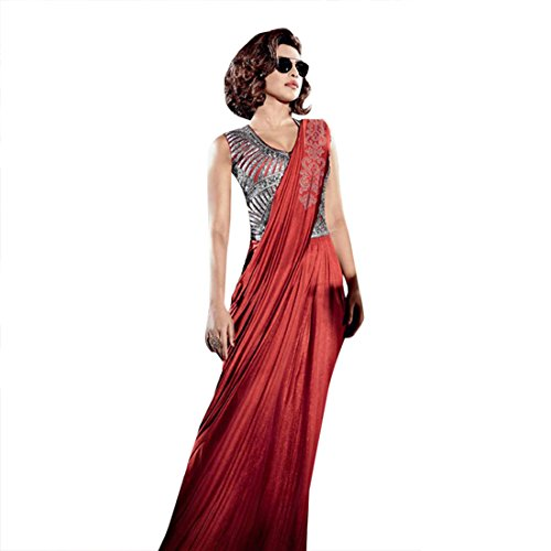 indossare ETHNIC vestito da di party abito in lycra abito EMPORIUM sposa camicia personalizzata camicia saree Bollywood per gonna JN abito camicia saree dress pronto 2735 etnico Indiano zZwzxqEr