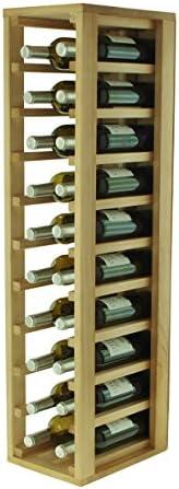 Expovinalia Botellero con Capacidad para 20 Botellas, Roble, 24x32x105 cm