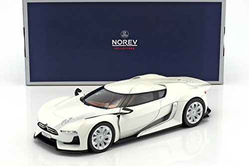 - NEW 1:18 W/B NOREV COLLECTION - CITROEN GT CONCEPT WHITE SALON DE PARIS Diecast Model Car By Norev