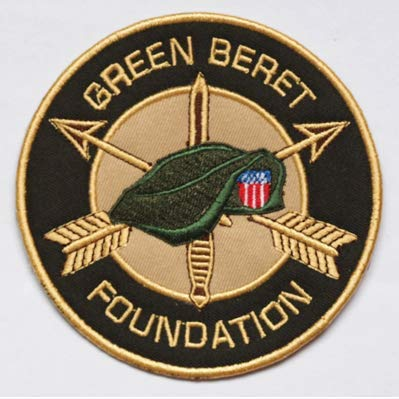 Green Beret Military Patch Fabric Embroidered Badges Patch Tactical Stickers for Clothes with Hook & Loop