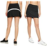 Cityoung Women's Casual Pleated Tennis Golf Skirt with Underneath Shorts Running Skorts