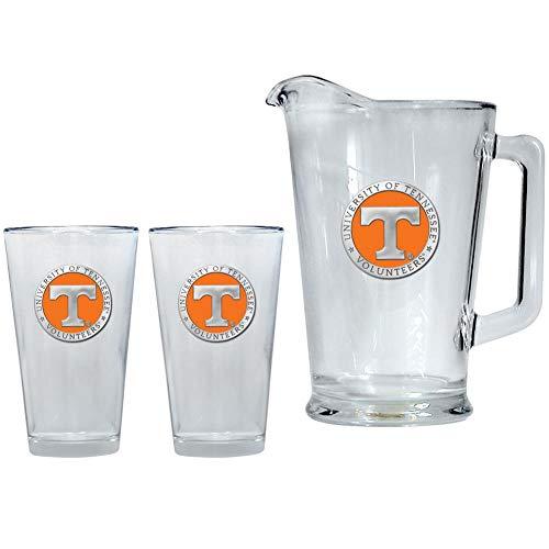 Heritage Metalwork Tennessee Volunteers Vols UT Pitcher and 2 Pint Glass Set Beer Set