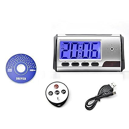 Despertador Flylinktech Blu-Ray WiFi Reloj Despertador Digital de Mini DVR Cámara Oculta Espía con